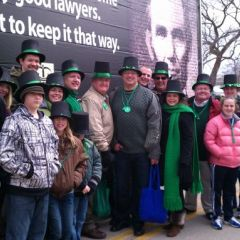 Members and leaders of the Illinois State Bar Association (ISBA), and their families, marched in the St. Patrick