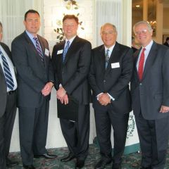 Mentoring and disciplinary issues were on the agenda for the Quincy Regional CLE. Speakers included Peter L. Rotskoff, Chief of Litigation, ARDC in Springfield; Quincy lawyer James A. Hansen, Chair of ISBA's Mentoring Committee; John G. Locallo; Mark D. Hassakis; and Jerome E. Larkin, ARDC Administrator, Chicago.