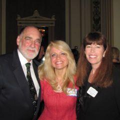 Warren Lupel, Michele Jochner and WBAI President Deane Brown