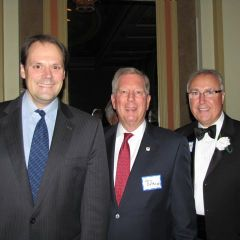ISBA Board member Mark Wojcik, ISBA Mutual President and CEO Jon DeMoss and ISBA Board member Umberto Davi