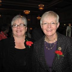 IJA President and Appellate Court Justice M. Carol Pope and Illinois Supreme Court Justice Mary Jane Theis