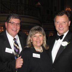 ISBA 3rd Vice President Rick D. Felice, ISBA 2nd Vice President Paula H. Holderman and President Locallo.