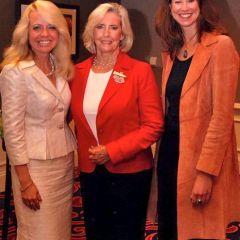 Luncheon Co-Chair Michele M. Jochner, Lilly Ledbetter, Dawn Dalton, Executive Director of the Chicago Metropolitan Battered Women's Network