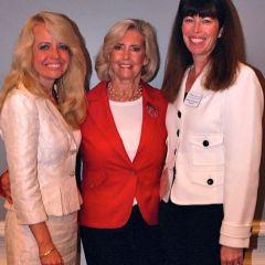 Michele Jochner, Lilly Ledbetter, Deane Brown, President of the Women's Bar Association of Illinois