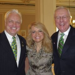 Royal Berg, Chicago Alumni Chapter Executive Board Chair Michele Jochner, ISBA Past President John G. O'Brien