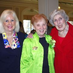 Judge Murphy (center) is congratulated by Hon. Rhoda Davis Sweeney  and Justice Mary Ann McMorrow