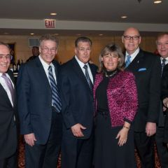 Chief Judge Holderman and ISBA 3rd Vice President Paula H. Holderman with members of the law firm of Black & Black