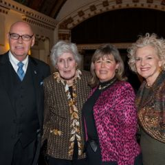 Chief Judge Holderman, Illinois Supreme Court Justice Mary Ann G. McMorrow (Ret.), ISBA 3rd Vice President Paula H. Holderman, Illinois Supreme Court Justice Anne M. Burke