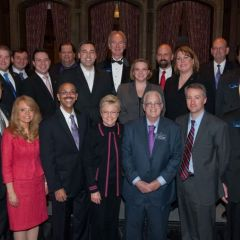 Michele Jochner and Pierre Priestley with the Phi Alpha Delta International Executive Board and Staff