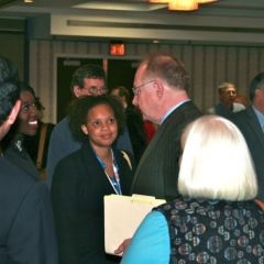 Chief Justice Kilbride meets with attendees