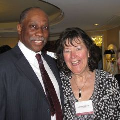 Judge Leonard Murray with Tish Sheats