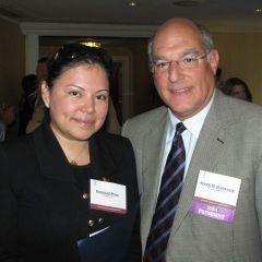 ISBA President Mark D. Hassakis with new admittee Rosalba Pina