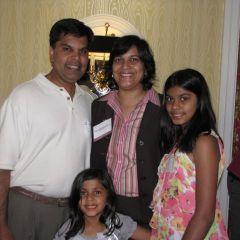 New admittee Sonali Sinha Srivastava and family