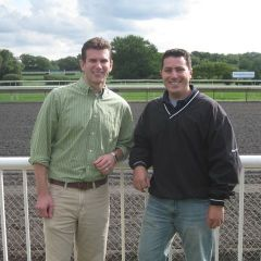 George Schoenbeck and Mike DiNatale - co-chairs of the Day at the Races event