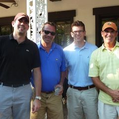 Golf Outing Co-chair Brett Swanson, ATG Trust President and CEO Peter Birnbaum, YLD Council member George Schoenbeck III and ATG Trust Vice President Hank Shulruff