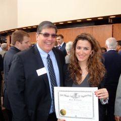 New admittee Sara Suleiman and ISBA 2nd Vice President Richard D. Felice