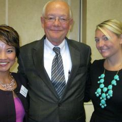 Speaker and ISBA Board member Sonni Williams, father David Lynch and new admittee Alison Lynch.