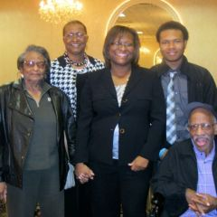 Grandmother May Jones, mother Phyllis Howery, new admittee Monique Howery, son Drew Howard and father Steven Howery.