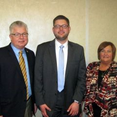 New admittee Christopher Allendorf with parents Steve and Dianne Allendorf.