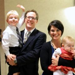 New admittee Dane C. Amundson (Champaign) w/wife and kids