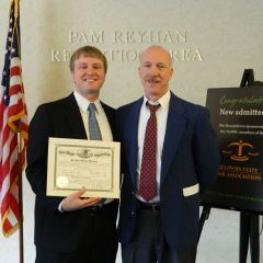 New admittee Joshua J. Houser (Springfield) with his father