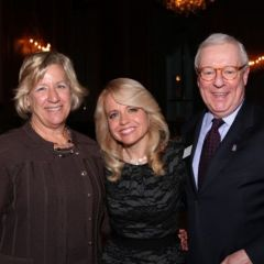Hon. Naomi Schuster of the Circuit Court of Cook County, honoree Michele Jochner, and ISBA Past President John G. O'Brien.