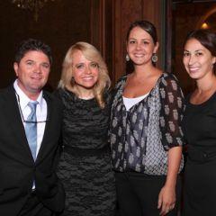 Martin Dolan, Beth Skogmo and Karen Munoz visit with Michele Jochner (second from left).