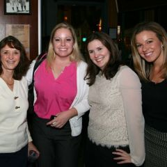 ISBA Director of Bar Services Janet Sosin, YLD Council members Julie Neubauer and Jessica Durkin and guest