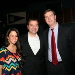 Past YLD Chairs Gregg Garofalo and Ryan Henderson and guest