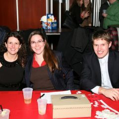YLD Council members Sarah Toney, Angel Wawrzynek and Allan Niemerg. Sarah and Angel served as Holiday Party co-chairs.