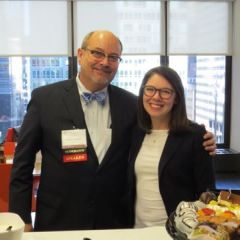 Conference co-coordinator William Anaya and ISBA CLE Coordinator Annie Moredock