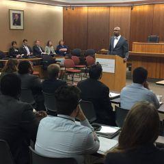 President Cornelius speaks at NIU College of Law orientation