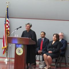 Hon Cythia Y. Cobbs congratulates the new class on behalf of the Court and moves for admission of the class