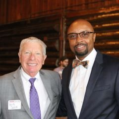 David Sosin and ISBA President Vincent Cornelius
