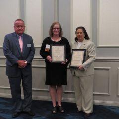 President Russell Hartigan, Kathryn Kelly, and Lynn Patton