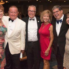 President Hartigan, Umberto Davi, Richard Felice, and their wives