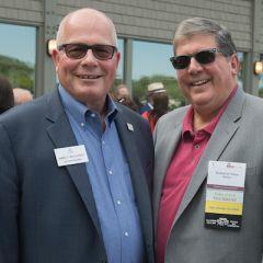 Second vice president Jim McCluskeyand past president Richard Felice