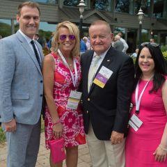 Michael Hartigan, Karen Enright, President Russell Hartigan, Jennifer Irman