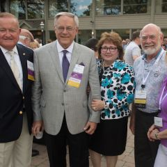 President Russell Hartigan, Dennis Orsey, his wife, George Ripplinger, and Terry Ripplinger