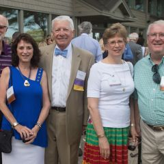 Janet Sosin, third vice president David Sosin, Jodie Thies, and David Thies