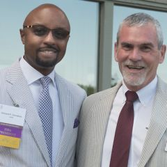 Past president Vincent Cornelius and ISBAAssistant Executive Director for Communications & Managing Editor Mark Mathewson