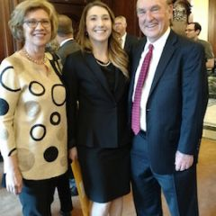 Jenna Lee Tucker with her dad, Hon. Alan D. Tucker, and mom