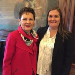 Rebecca Wagner with Hon. Rita Garman