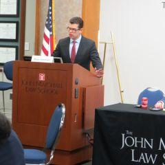 George Schoenbeckat ISBA Day at the John Marshall Law School.
