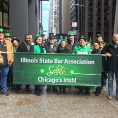 ISBA Members March in Chicago St. Patrick's Day Parade
