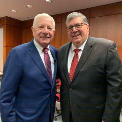 ISBA President David B. Sosin and ISBA Past President Hon. Richard D. Felice