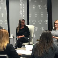 Michael Bergmann, Traci Braun from Exelon Corporation, and Stacey McCollough from Mirabella, Kincaid, Frederick & Mirabella, LLC