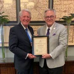John Rekowski and ISBA President Dennis Orsey