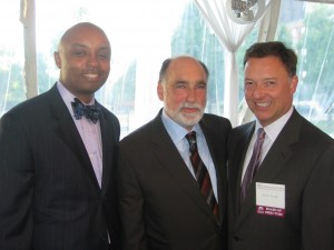 The Bar Foundation held a reception for the Warren Lupel Fund on June 3. From left are Bar Foundation President Vince Cornelius, Warren Lupel and John Locallo, chair of the Fellows of the Bar Foundation.