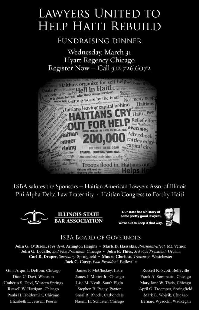 Register now for Lawyers United to Help Haiti Rebuild